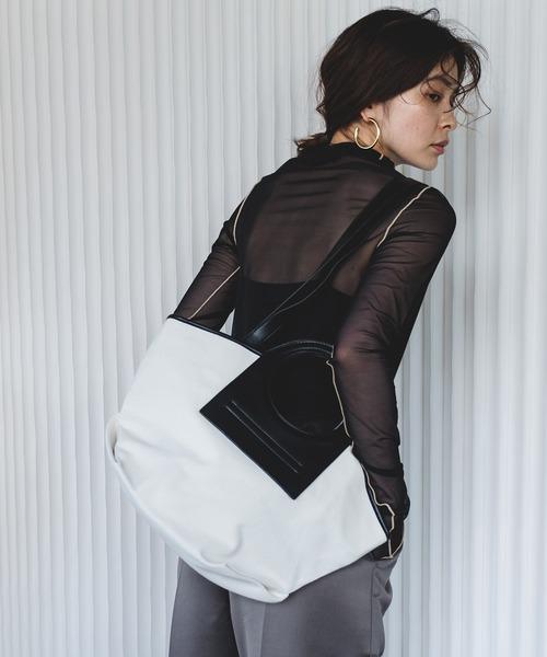 【chuclla】Leather handle canvas shoulder bag cha202