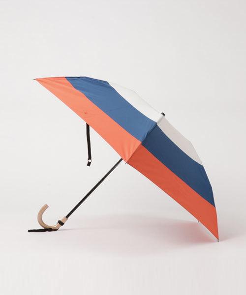 Saison Tourne Umbrella(セゾントルヌ アンブレラ)の「Saison Tourne Umbrella ボーダー折りたたみ雨傘(折りたたみ傘)」|トリコロール