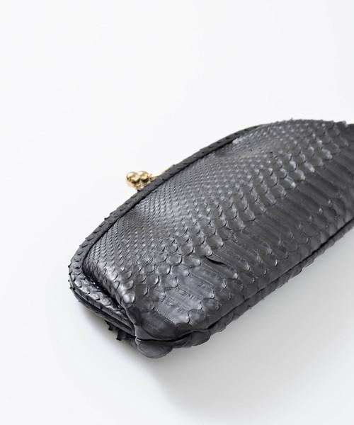 「StitchandSew / スティッチアンドソー」 パイソンカウレザーがま口長財布