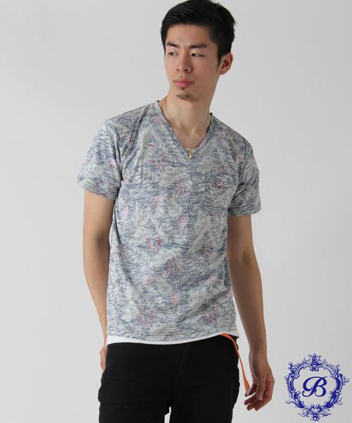 【BURNER SELECT】総柄裏プリントポケットTシャツ