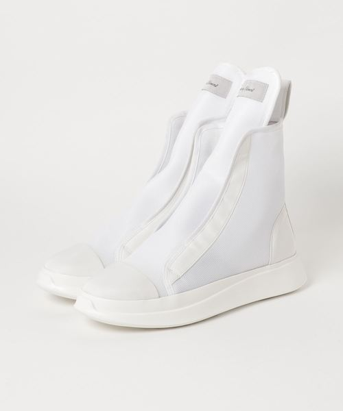 【Enhance Element】ENHANCE ELEMENT MESH HIGHCUT SLIPON SNEAKER WH