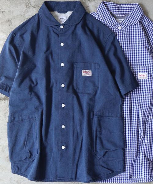 SMITH別注ショールカラー半袖ワークシャツ(その他1⇒WEB限定カラー)