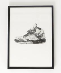 『Steph f Morris』Supreme x NIKE Air Jordan 5 / スニーカー 絵画 アート(ポスター/アート)