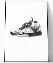 『Steph f Morris』Supreme x NIKE Air Jordan 5 / シュプリーム×ナイキ エアジョーダン5 スニーカー 絵画 アート(ポスター/アート)