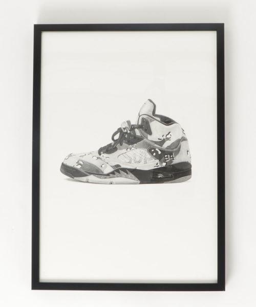 『Steph f Morris』Supreme x NIKE Air Jordan 5 / シュプリーム×ナイキ エアジョーダン5 スニーカー 絵画 アート
