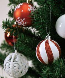 SPICE OF LIFE(スパイス オブ ライフ)のクリスマス パーティーオーナメント 6cmボール36個セット レッド(インテリアアクセサリー)