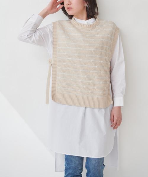 【THE CHIC】ベスト×ロングシャツセット