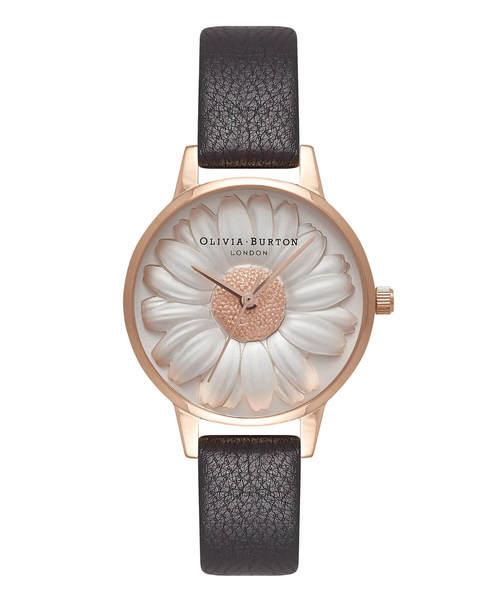 OLIVIA BURTON(オリビアバートン)の「「OLIVIA BURTON/オリビアバートン」フラワーショー 3D デイジー(腕時計)」|ブラック系その他