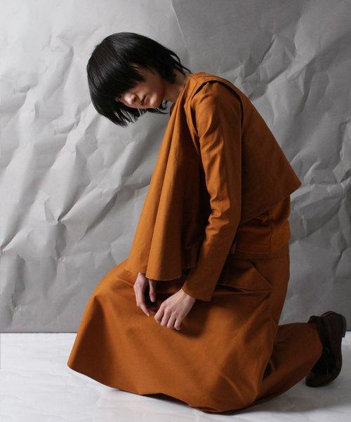 【ohta】 brown layertops
