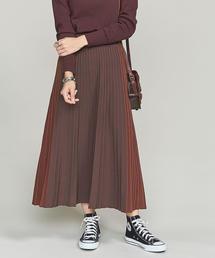 <TORRAZZO DONNA>バイカラーニットプリーツスカート