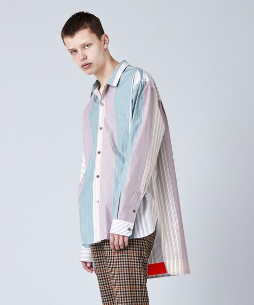 【完売】  パッチワークストライプ蛍光カラー配色ロングシャツ(シャツ/ブラウス) NOISE|NOISE MAKER(ノイズメーカー)のファッション通販, イワムロムラ:30eef617 --- ulasuga-guggen.de