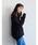 CRAFT STANDARD BOUTIQUE(クラフトスタンダードブティック)の「抜け衿ニットプルオーバー〇*(ニット/セーター)」 ブラック