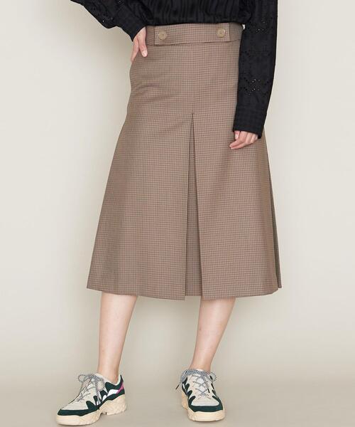 ASTRAET(アストラット)チェック ボックスプリーツ スカート