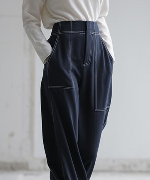 【chuclla】【2021/SS】Stitch wide pants chw1551
