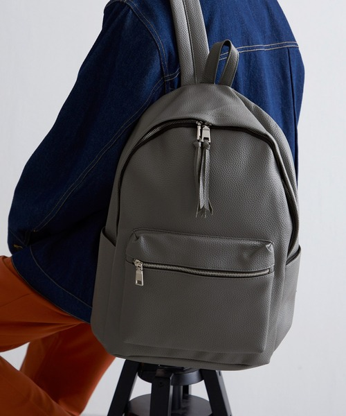 BASIC NEOLEATHER BACKPACK/PUレザーバッグパック
