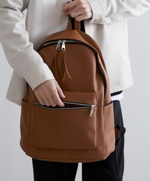 BASIC NEOLEATHER BACKPACK/PUレザーバッグパック 2020SSキャメル