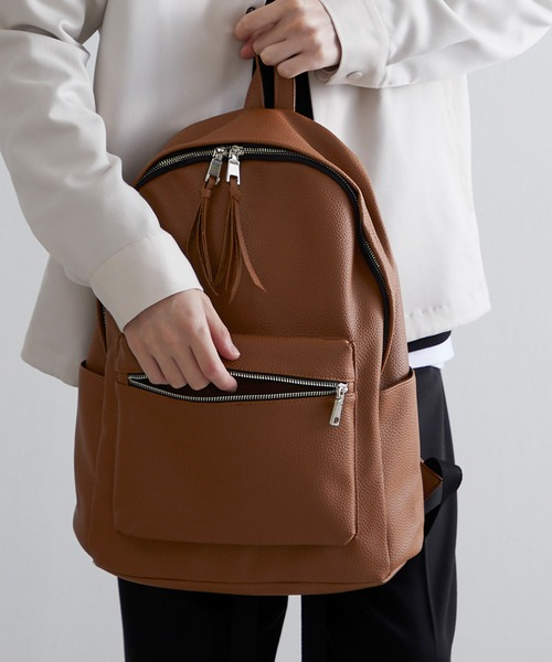 BASIC NEOLEATHER BACKPACK/PUレザーバッグパック 2020SS