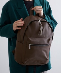 BASIC NEOLEATHER BACKPACK/PUレザーバッグパック 2020SSブラウン