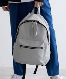 BASIC NEOLEATHER BACKPACK/PUレザーバッグパック 2020SSライトグレー