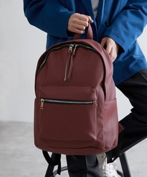 BASIC NEOLEATHER BACKPACK/PUレザーバッグパック 2020SSボルドー