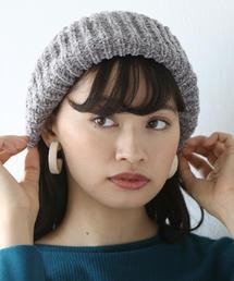 モールニットベレー帽(ニット帽)