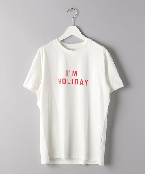 <HOLIDAY BOILEAU(ホリディ ボワロ)>  THE I'M HOLIDAY TEE-SHIRT