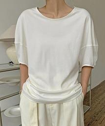 【chuclla】【2021/SS】Round neck puff sleeve T-shirt  chw1552ホワイト