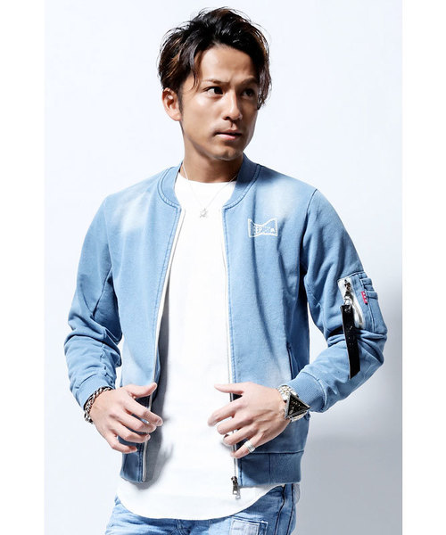 最も  【セール】DEEP Knit Processed Sweat Denim Denim Knit TOKYO,コーパス MA-1(MA-1)|DEEP(ディープ)のファッション通販, 丸島商事 インターネット事業部:4bfcbb1d --- fahrservice-fischer.de
