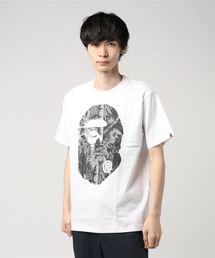 A BATHING APE(アベイシングエイプ)のBAPE FOREST CAMO BIG APE HEAD TEE M(Tシャツ/カットソー)