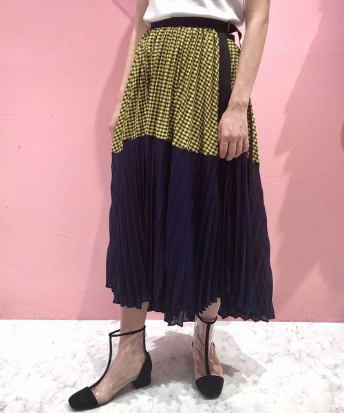 リアル 【セール】チェックコンビネーションラップスカート(スカート)|lilLilly(リルリリー)のファッション通販, 唐子屋:f346e09d --- fahrservice-fischer.de