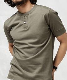 nano・universe(ナノユニバース)のAnti Soaked ヘビーヘンリーネックTシャツ(Tシャツ/カットソー)