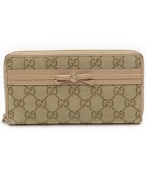 a7f5a12e697f GUCCI(グッチ)の古着「GGキャンバス ラウンドファスナー長財布(財布)