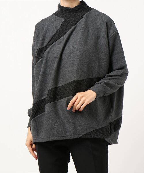 gomme(ゴム)の「ウォームリッチ スパイラルT(Tシャツ/カットソー)」|チャコールグレー