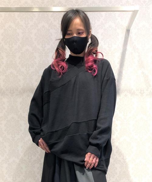 gomme(ゴム)の「ウォームリッチ スパイラルT(Tシャツ/カットソー)」|ブラック