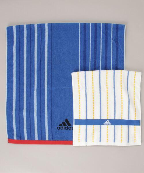 【 adidas / アディダス 】 バスタオル フェイスタオル 2点セット 063629400M TOB