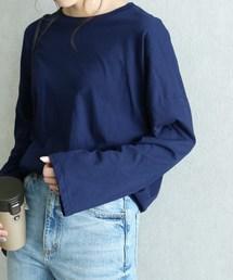 reca(レカ)の【プチプラ】袖フレアゆるさら無地ビックシルエットカットソー(Tシャツ/カットソー)