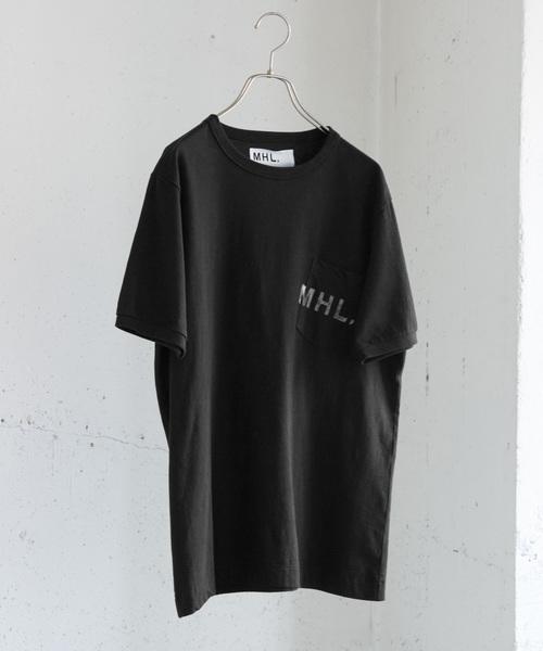 MHL.(エムエイチエル)の「MHL.×URBAN RESEARCH 別注PRINTED T-SHIRTS(Tシャツ/カットソー)」|ブラック