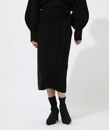 AZUL BY MOUSSY(アズールバイマウジー)のSWEATTER BELT TIGHT SKIRT/スウェッターベルトタイトスカート(スカート)