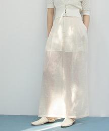 【chuclla】【2021/SS】Sheer wide pants chw1554クリーム