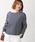 WEGO(ウィゴー)の「WEGO/バスクボーダーボートネックロングTシャツ(Tシャツ/カットソー)」 ブルー系その他3