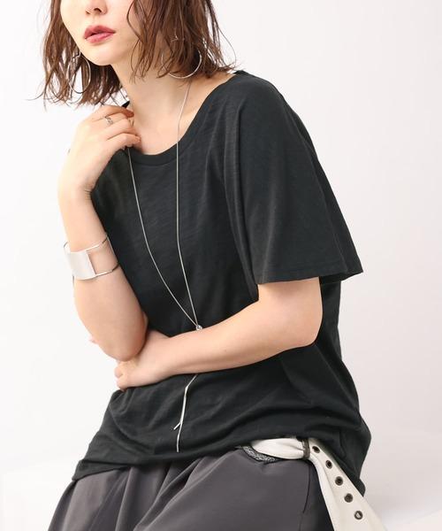 『n'OrシンプルUネックTシャツ』