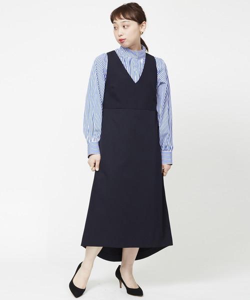 『3年保証』 【セール】Vネックジャンパースカート(ワンピース)|HELIOPOLE(エリオポール)のファッション通販, タカスチョウ:b47c7a9e --- 5613dcaibao.eu.org