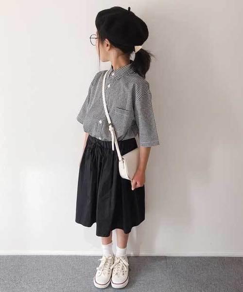 【ファミリーお揃い】コットンリネン半袖シャツ
