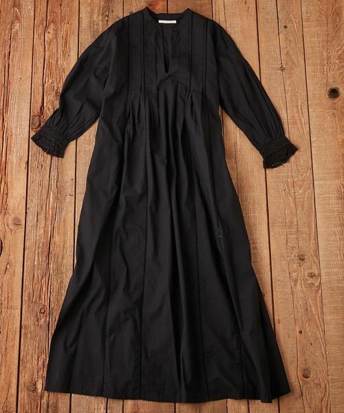 Ne Quittez Pas / POPLIN LACE LONG DRESS