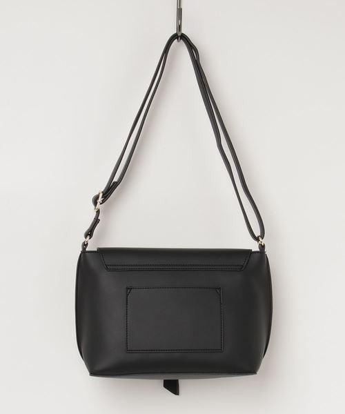 [ALTROSE/アルトローズ]シンプル かぶせ付 ショルダーバッグ