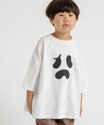 【coen キッズ】ハロウィンビッグ8分袖チュニックTシャツ
