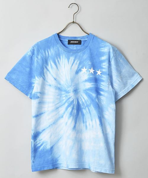 JUDGEMENT天竺トルネード染プリントTシャツ
