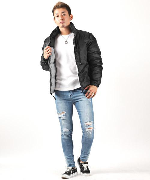 ヌプシ型リバーシブル中綿ジャケット