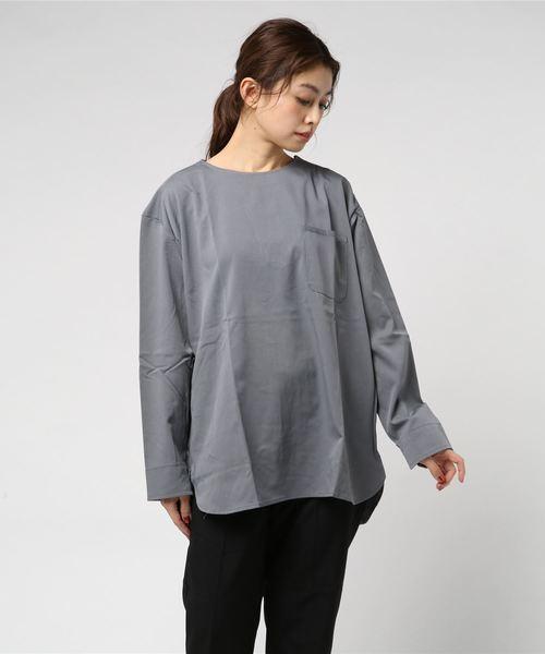 【i】9分袖BIGシャツ