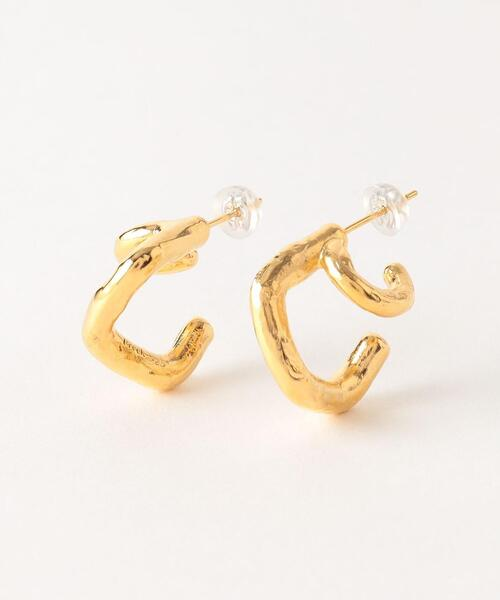 <Preek>DOUBLE EARRINGS GOLD PLATED/ピアス